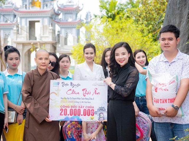 Hoa hậu Stella Chang cùng gia đình MLi Việt Nam thực hiện chuyến thiện nguyện tại chùa Thái Ân