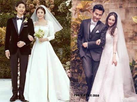 """""""Cuộc đua"""" váy cưới của người đẹp châu Á: chốt hạ, sao Trung chịu chi nhất với giá 900 tỷ"""