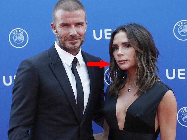 Beckham là người được vinh danh nhưng gương mặt của Victoria mới thực sự gây chú ý