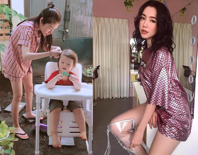 Elly Trần ở nhà mặc đồ nhu thế này đây, quá khác biệt !