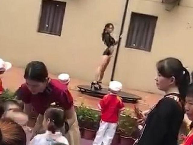 Bất bình trước cảnh trường mẫu giáo mừng khai giảng bằng... múa cột