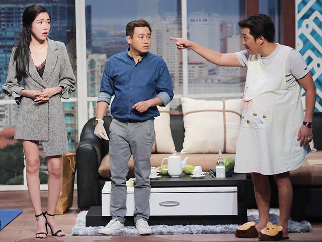 Trường Giang bất ngờ dùng nhẫn đính hôn của mình để dằn mặt Elly Trần, bị Hoài Linh nhắc nhở