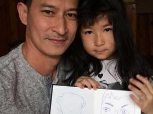"""Sao Việt 24h: """"Cười sặc"""" với bức chân dung con gái lém lỉnh của Huy Khánh vẽ bố"""