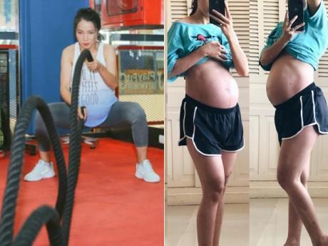 Mẹ Sài Gòn nhận   rổ gạch đá   vì mang bầu vẫn tập gym, sau sinh mọi người mới ngỡ ngàng