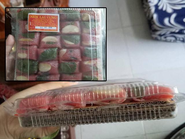 Mua hộp nem chua 45 nghìn, khi lấy ra cô gái tí ngất vì 1 phần thịt 9 phần giấy