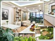 Mua nhà ngẫu nhiên, mẹ 8x Hà Nội thiết kế phòng khách tận... tầng 4 vì có vườn siêu xinh