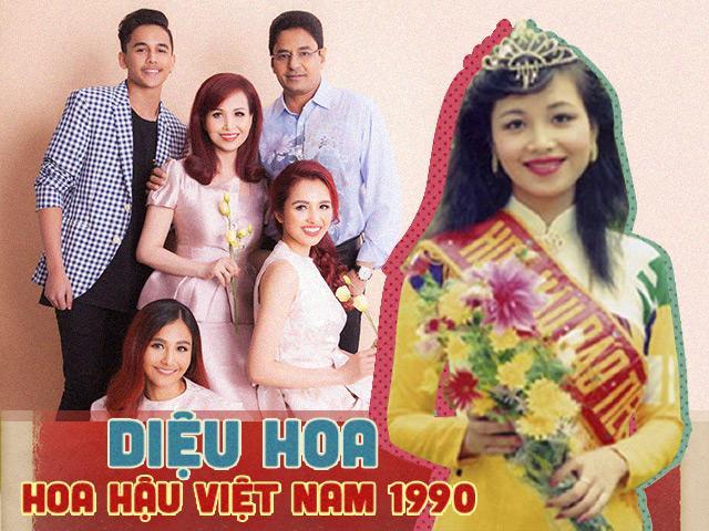 Cuộc sống làm mẹ 3 con của Hoa hậu Việt Nam đầu tiên phá rào lấy chồng ngoại quốc