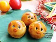Bếp Eva - Vài bước đơn giản là xong ngay bánh Trung thu hình heo dễ thương cho bé