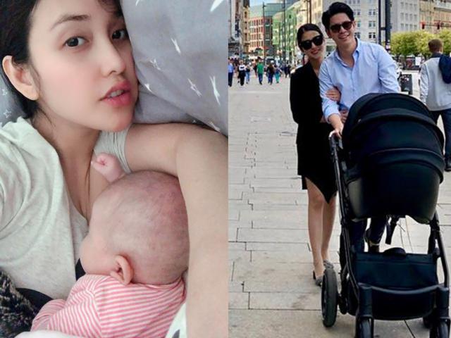 Mai Hồ lần đầu công khai ảnh con mới sinh với ông xã Việt kiều kém 4 tuổi