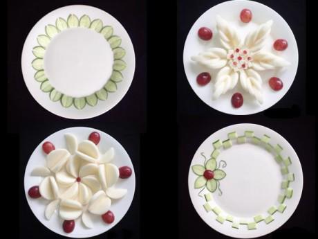 Mẹ bầu 9x bày đĩa ăn nào cũng như vườn hoa, ai nhìn cũng mê mẩn vì đẹp