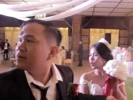 """""""Đám cưới thế kỷ"""": siêu bão Mangkhut đổ bộ, cô dâu chú rể hốt hoảng"""