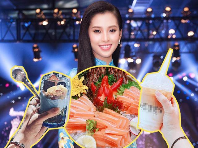 Vừa đăng quang hoa hậu Việt Nam 2018, Tiểu Vy đã được phát hiện là thánh ăn uống