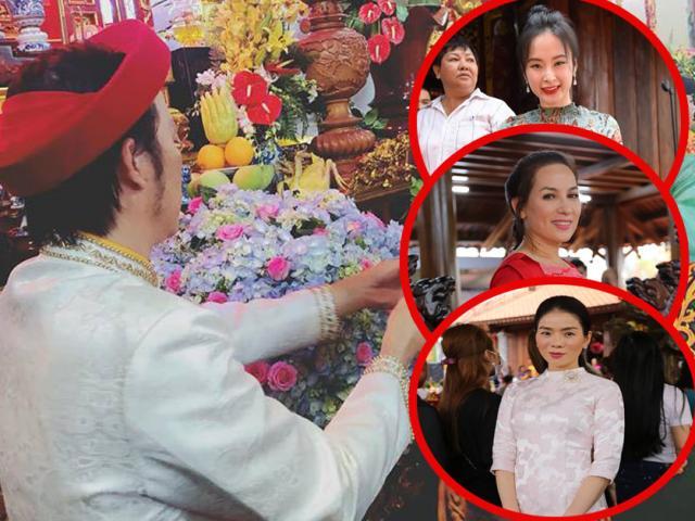 Angela Phương Trinh, Phi Nhung và dàn sao Việt tề tựu về đền thờ của Hoài Linh cúng Tổ nghiệp