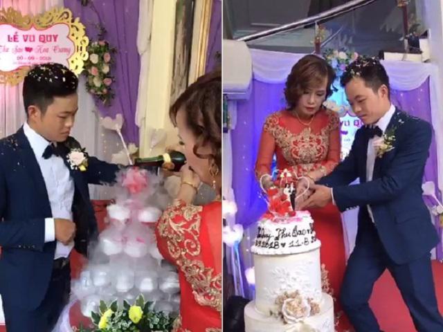 Chủ rể trẻ 26 tuổi bối rối trong giây phút đón cô dâu 62 tuổi ở Cao Bằng