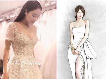 HOT: Nhã Phương sẽ mặc váy cưới xẻ đùi, che bụng khéo léo trong lễ cưới với Trường Giang