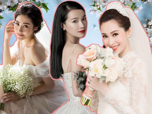 Khác với Đặng Thu Thảo, Tú Anh, Nhã Phương chọn kiểu tóc này trong bộ ảnh cưới