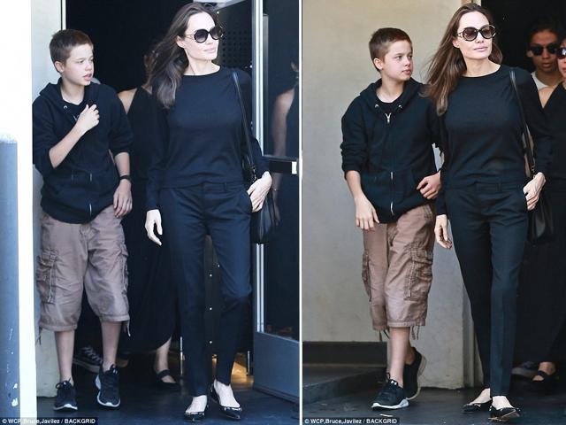 Mới 12 tuổi nhưng cô con gái tomboy Shiloh của Angelina Jolie đã trổ mã cao gần ngang ngửa mẹ