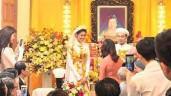 HOT: Lan Khuê mặc áo dài phượng hoàng tung cánh trong lễ đính hôn với chồng đại gia