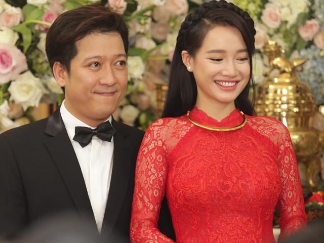 Cô dâu Nhã Phương xinh tươi rạng ngời bên ông xã Trường Giang trong lễ vu quy