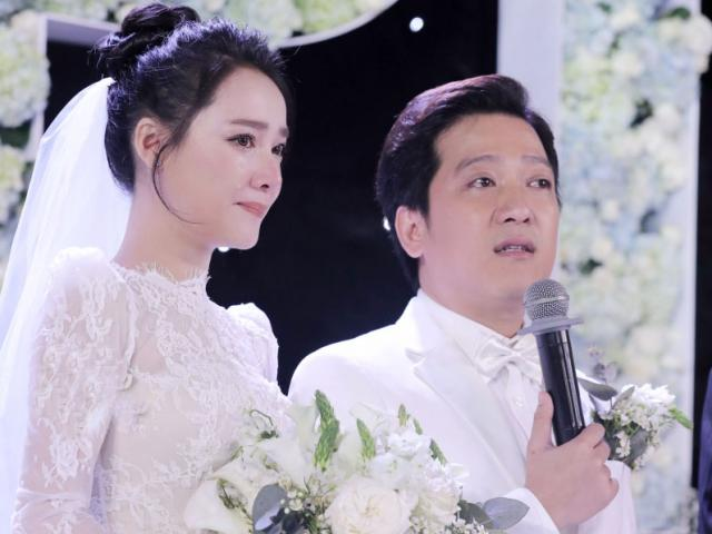 Giữa đám cưới, Trường Giang nghẹn ngào: Đã có lúc hai đứa ngồi đến sáng và khóc