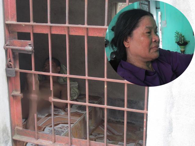 Xót lòng cảnh mẹ già phải xây chuồng nhốt... 3 đứa con tâm thần