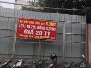 Miếng đất 5,3m2 được rao bán 20 tỷ tại Hà Nội gây sốc giới bất động sản