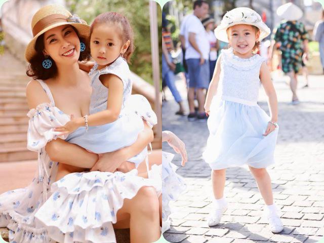 Con gái Hà Anh được khen xinh và cao đúng chuẩn Hoa hậu tương lai