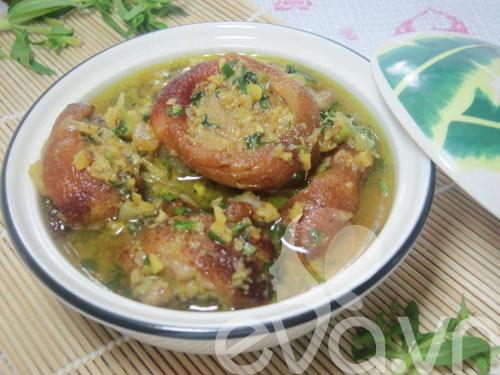 Móng giò nấu giả cầy ngày lạnh - 7