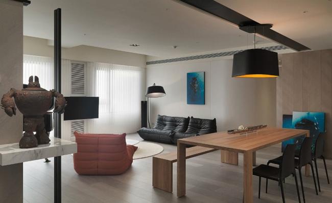 Căn hộ này là một trong những minh chứng cho việc bày trí nội thất giản đơn mà vẫn đẹp.