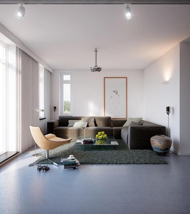 Thường thì người ta thích những ngôi nhà có lối thiết kế cầu kỳ kiểu cách, còn tôi chỉ thích một ngôi nhà thế này: trắng tinh, sạch sẽ, gọn gàng.