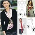 Thời trang - 12 cách thắt khăn thu duyên dáng