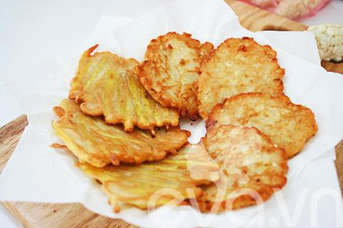 banh ngo, banh khoai chien: de lam, gion thom - 9