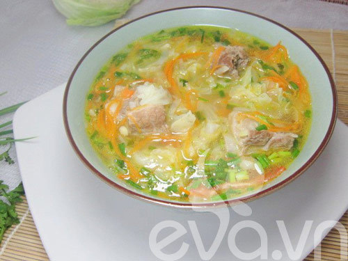 thuc don: thit nuong rieng, canh cai suon - 2