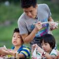 Làng sao - Dad! Where Are You Going?: Lâm Chí Dĩnh chăm con