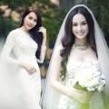 """Làng sao - """"Soi"""" Hoa hậu khi diện váy cô dâu"""