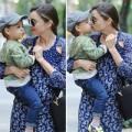 Làng sao - Nhóc Flynn nhí nhố bên mẹ Miranda Kerr