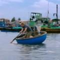 Bơi thuyền thúng và đi câu mực