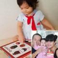 Làm mẹ - Con gái Phạm Quỳnh Anh tập đọc cực yêu