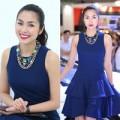 Thời trang - Hà Tăng sành điệu với váy xanh cô-ban