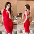Làng sao - Ngọc Quyên diện váy đỏ rực, khoe da trắng ngần