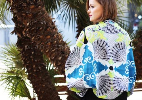 Eva khéo tay: Áo khoác từ khăn lụa ấn tượng-8