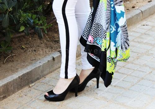 Eva khéo tay: Áo khoác từ khăn lụa ấn tượng-10