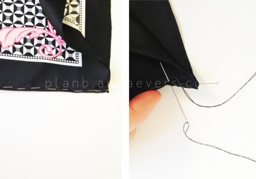 Eva khéo tay: Áo khoác từ khăn lụa ấn tượng-5