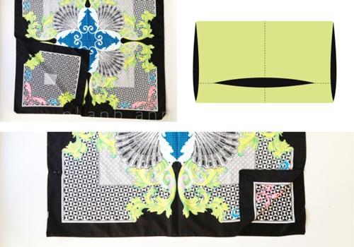 Eva khéo tay: Áo khoác từ khăn lụa ấn tượng-3