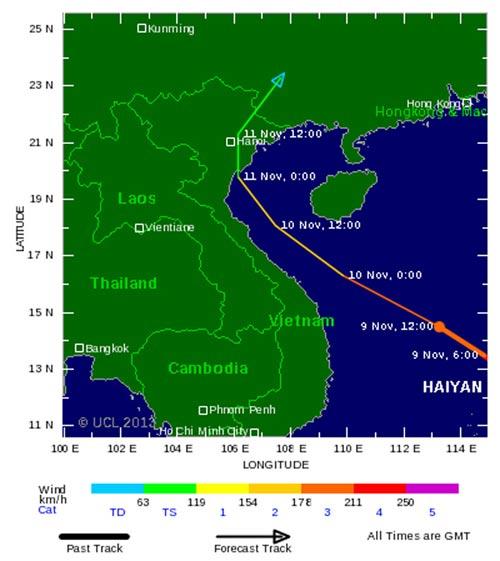 Bão Hải Yến đổi hướng và dự đoán của các chuyên gia quốc tế - 2
