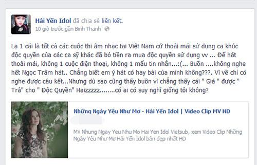 hai yen idol ''to'' the voice dung bai hat trai phep - 1