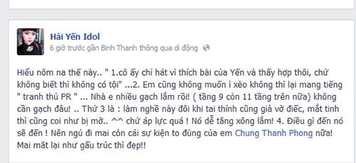 hai yen idol ''to'' the voice dung bai hat trai phep - 3