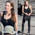 Làng sao - Angelina Jolie gầy nhom trên phim trường