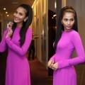 Thời trang - Trương Thị May 'gây thương nhớ' với áo dài tím Huế