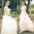 Làng sao - Vũ Hoàng Điệp xinh như công chúa khi mặc váy cưới